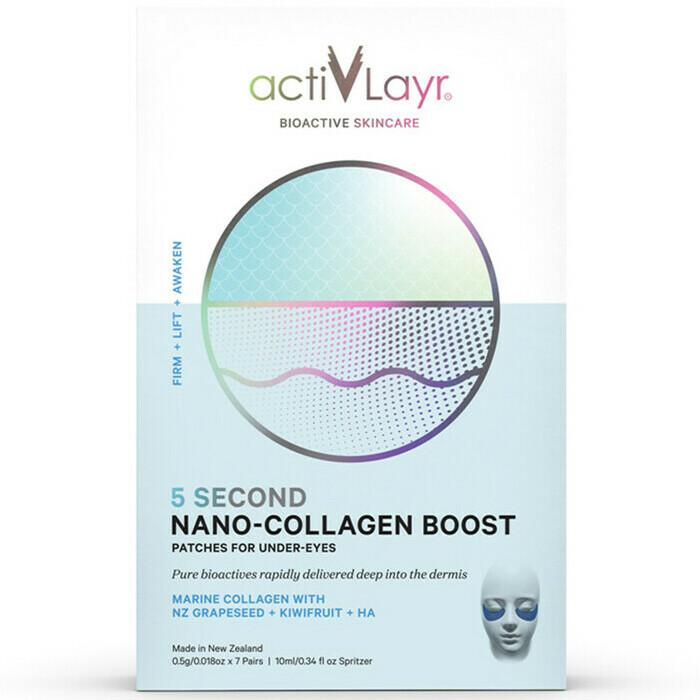 ActivLayr Eye Treatment-Cove Medispa-Skincare-treatments-Australia-Perth-These ActivLayr™ 5 Second Nano-Collagen Boost Under-Eye Patches are the world's first marine-sourced-collagen nano-fibre skincare products. They are created to deliver bioactives deep into the dermal layers where they help to instantly and intensely firm the skin and improve elasticity while reducing the depth of wrinkles and fine lines around the eye area. Safe for any skin type, these revolutionary, scientifically tested