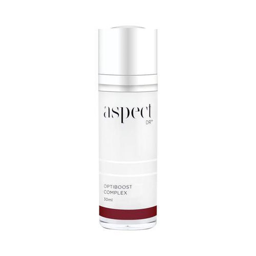Aspect DR Optiboost Complex-Cove Medispa-Skincare-treatments-Australia-Perth-All skin types, ageing, dehydrated, problematic, sensitive.Performance Ingredients• Enzymatic Complex (Plankton Extract, Arabidopsis Thaliana Extract and Micrococcus Lysate) | An antioxidant complex to help protect skin from external free radicals and delay visible signs of ageing. Sodium Hyaluronate | A form of hyaluronic acid that helps smooth the appearance of fine lines and wrinkles. L-Ergothioneine | A botanical am
