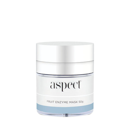 Aspect Fruit Enzyme Mask-Cove Medispa-Skincare-treatments-Australia-Perth-Description: Exfoliating gel-mask. All skin types, ageing, pigmentation. Key Ingredients and Benefits: • Fruit Enzyme Complex | A blend of Pineapple, Grapefruit, Pomegranate, Acai Berry and Cranberry to help smooth skin texture. • Coffee Extract | Helps to re- energise skin. • Vitamin A, B, C & E | A powerhouse vitamin complex to help illuminate appearance Use: Apply a large pearl sized amount and massage into dry skin unt