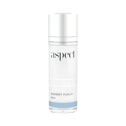 Aspect Pigment Punch +-Cove Medispa-Skincare-treatments-Australia-Perth-Description: Even skin serum. Suitable for: All skin types, excess oil, problematic. Key Ingredients and Benefits: • Tyrostat-11TM (Rumex Occidentalis and L-Ascorbic Acid) | A powerful complex to help illuminate and even out complexion. • RadianSkinTM (Hydroxyphenoxy Propionic Acid) | Works in synergy with other ingredients to target pigmented dark areas. BellidesTM (Daisy Flower Extract) Helps to illuminate appearance of sk