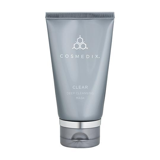 Cosmedix Clear Mask-Cove Medispa-Skincare-treatments-Australia-Perth-Description: Super-absorbent clarifying mask for oily & problem skin. Key Benefits: • Exfoliates• Calms• Decongests• Ideal as part of a medi-facial or at-home use Suitable for: All oily skin conditions, breakout prone, impure, congested skins. Usage: 1-2 times a week. Apply a pea size amount all over face and leave on for up to 10 mins and rinse with water. Can spot treat and leave on overnight. Not safe for pregnant, or lactat