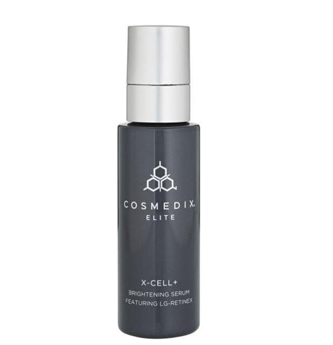 Cosmedix Elite X-Cell+ Serum-Cove Medispa-Skincare-treatments-Australia-Perth-Description: Multitasking serum brightens as it gently exfoliates to reveal a smoother, more even-toned appearance. Ideal prep to any laser treatment, surgical procedure or peel. Key Benefits: • Brightening and Lightening • Exfoliating• Enhances cell turnover• Helps to even skin tone Suitable for: All forms of hyperpigmentation, photodamage. Prep fitzpatrick skin types III-IV before peels or laser etc. Pre peel/laser/s