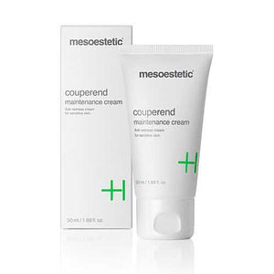 Couperend Maintance Cream-Cove Medispa-Skincare-treatments-Australia-Perth-mesoestetic couperend maintenance cream is a cream for sensitive skins susceptible to the appearance of redness and the appearance of superficially visible capillaries. Minimising irritation of the skin, mesoestetic couperend maintenance cream regenerates the skin while it protects, and has an anti-inflammatory action.