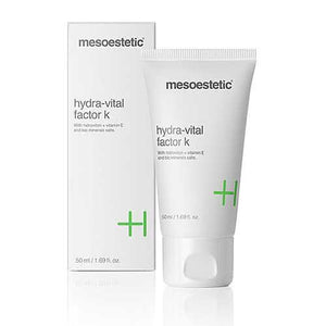 Hydra-Vital Factor K-Cove Medispa-Skincare-treatments-Australia-Perth-mesoestetic hydra-vital factor k is an ultra moisturising cream designed particularly for dry skins that need smoothness and elasticity to be restored. It maintains the inner layer of the skin with deeply moisturising action, and restores the hydrolipidic layer. mesoestetic hydra-vital factor k counteracts the effect of external aggressors, such as pollution.