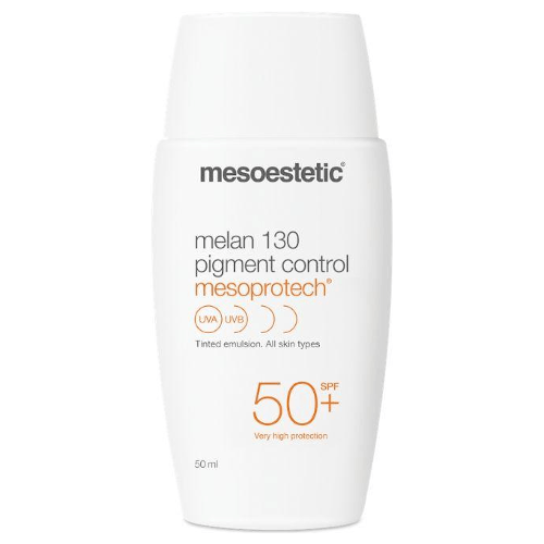 Melan 130 Pigment Control SPF 50+-Cove Medispa-Skincare-treatments-Australia-Perth-Skin with pigmentation imperfections. Very high factor sun protection. A depigmenting ingredient helps regulate melanin synthesis by reinforcingthe preventative anti spot action. A coloured texture that provides a natural tone and softens imperfections, unifying even the skin tone.