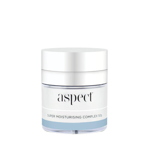 Super Moisturising Complex-Cove Medispa-Skincare-treatments-Australia-Perth-Deliver intense hydration and nourishment with super-rich Aspect Super Moisturising Complex moisturiser from the Aspect skin care experts. Designed to support a dry, dehydrated, and mature complexion, this deeply hydrating and emollient face cream packs skin full of moisture for a smoother and plumper look and feel.