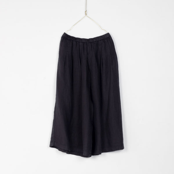 Linen Culottes - French Navy