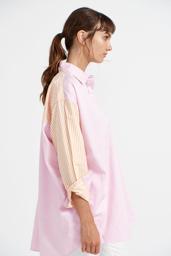 Mix it Up Shirt - Pink Stripe
