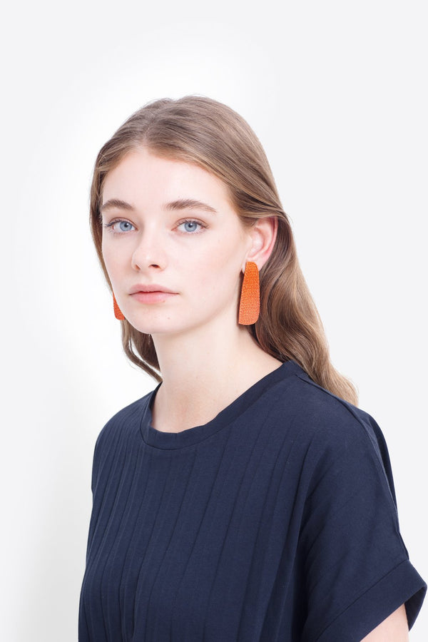 Franja Earrings - Orange