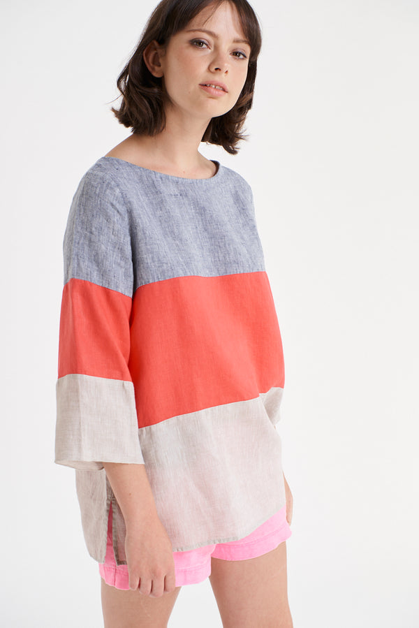 Trifle Top - Marine/Poppy