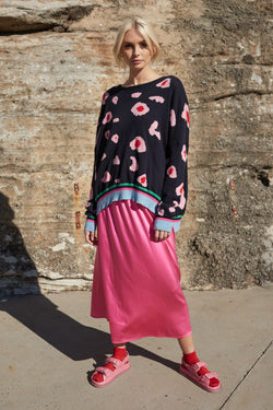 Silky Sundae Skirt - Flamingo