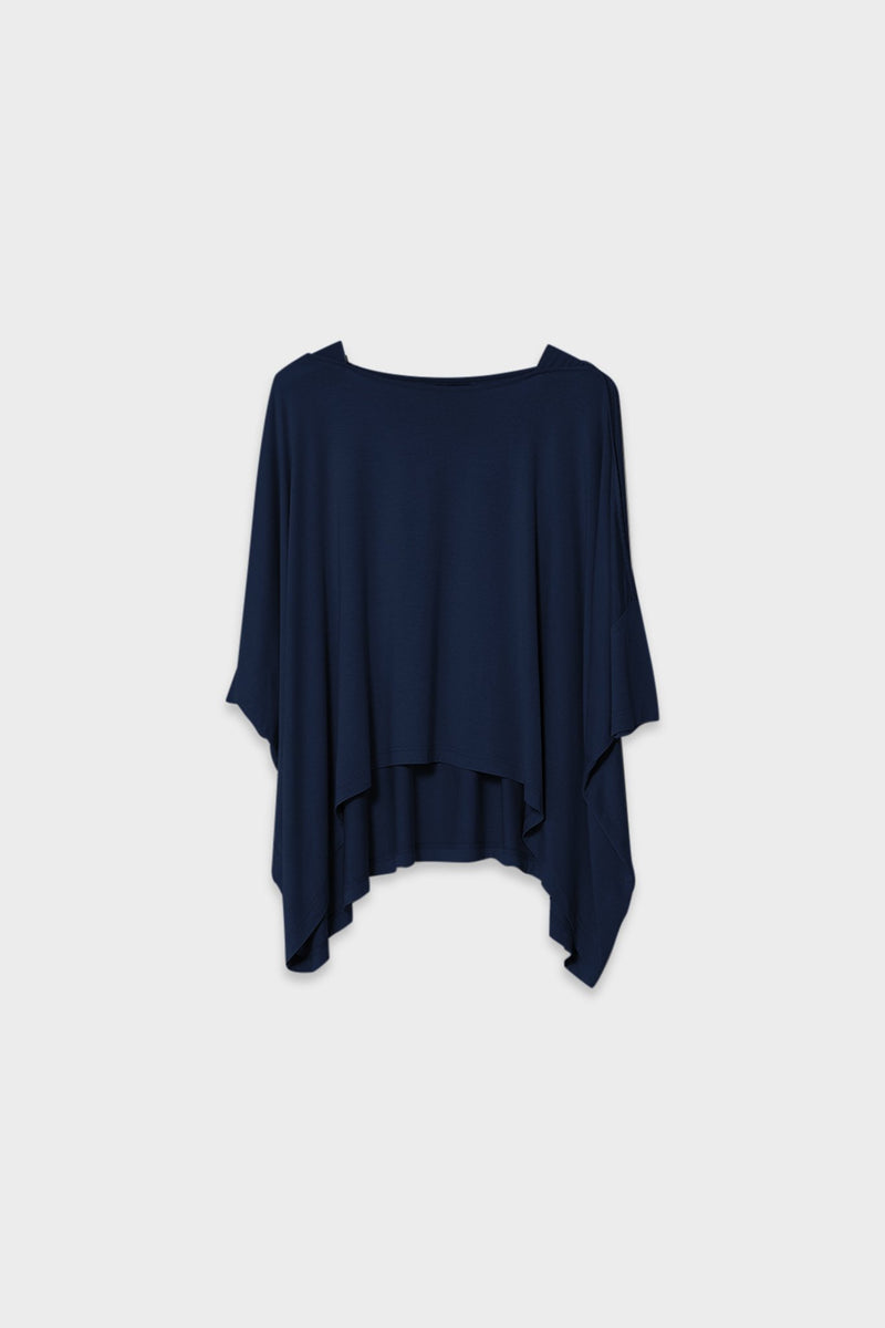 Wide Stretch Top - Navy