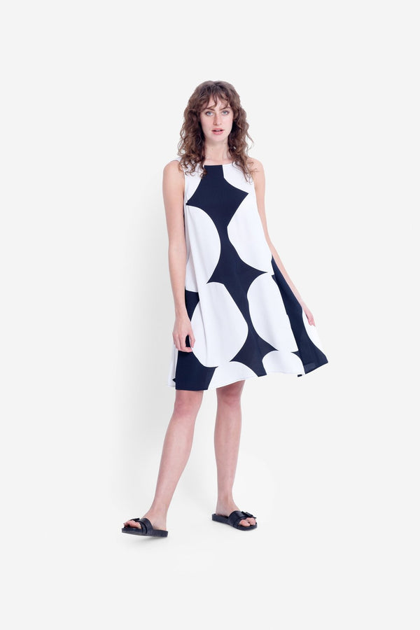 Kalla Tank Dress - Black/White