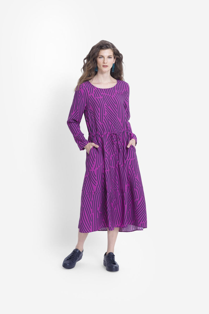 Fraja Dress - Magenta/Midnight