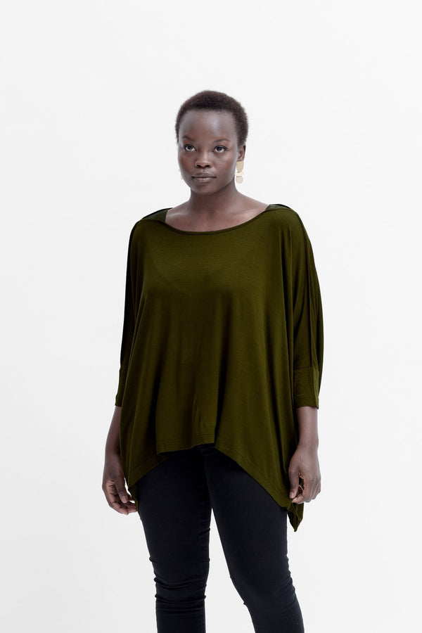 Wide Stretch Top - Dark Citronelle