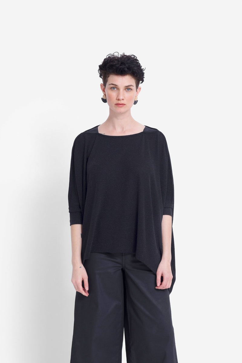 Wide Stretch Top - Metalllic