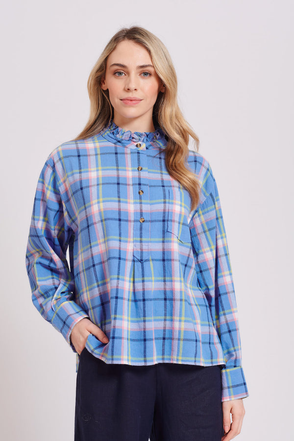 Bella Shirt - Cornflower