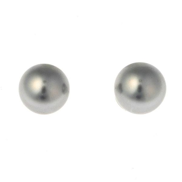 Grey Pearl Stud 12mm
