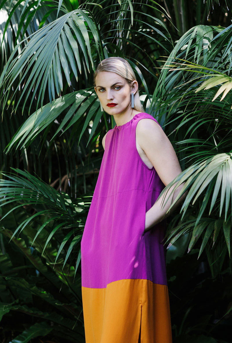 Molger Dress - Magenta/Orange