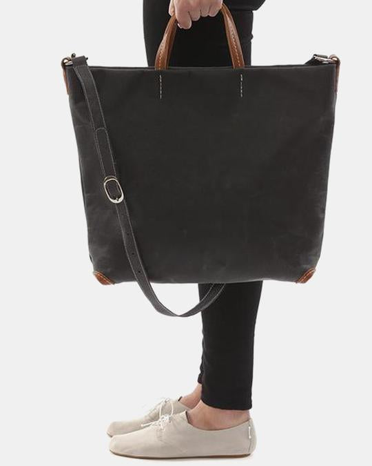 Cross Body Tote - Black