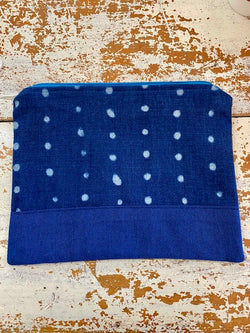 Indigo Print Zip Purse - large
