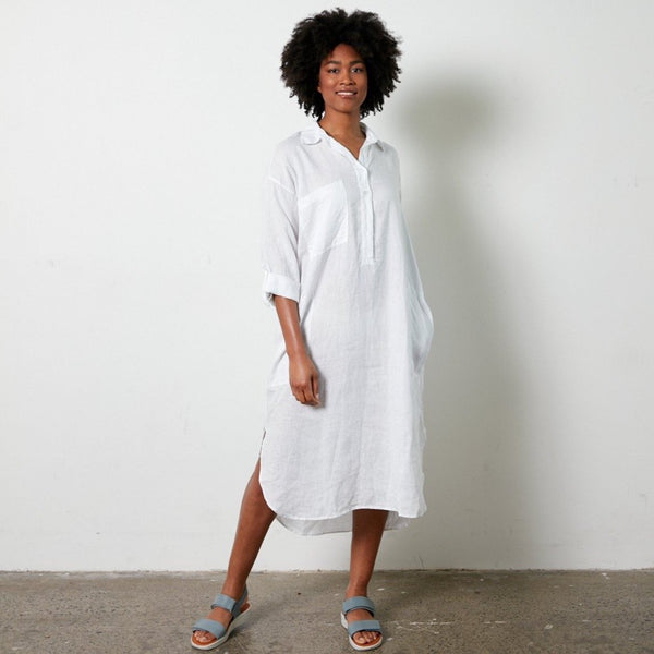 Biarritz linen shirt dress - Natural