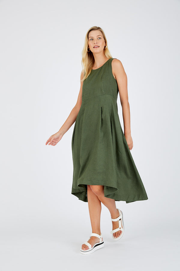 Sadie Dress - Khaki