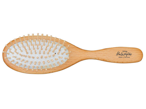 Redecker Oval Beechwood Hair Brush - Pins