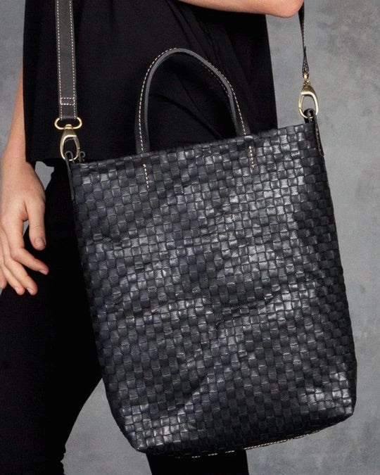 Shoulder Tote Weave - Black