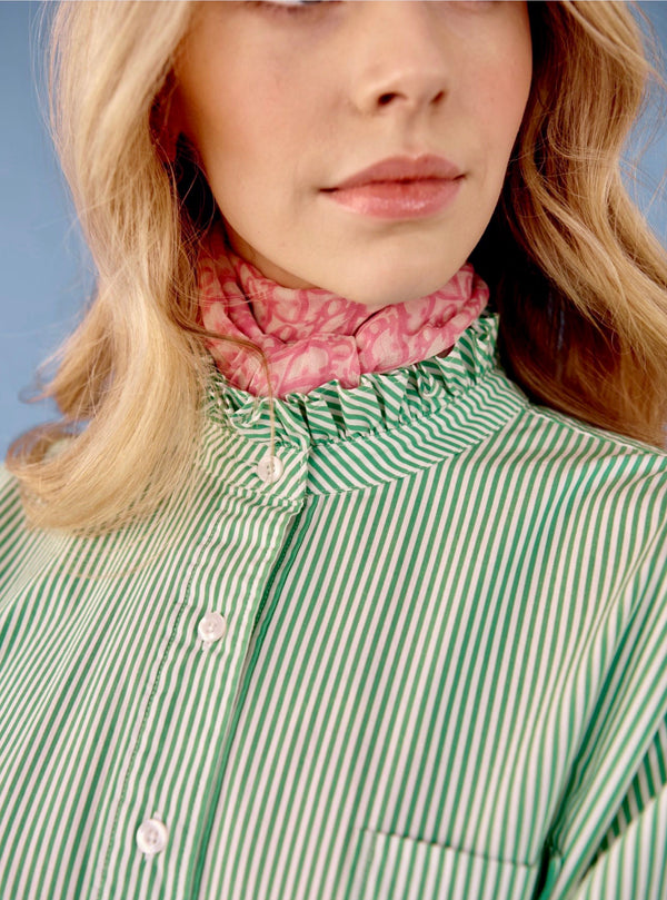 Bella Shirt - Green Stripe