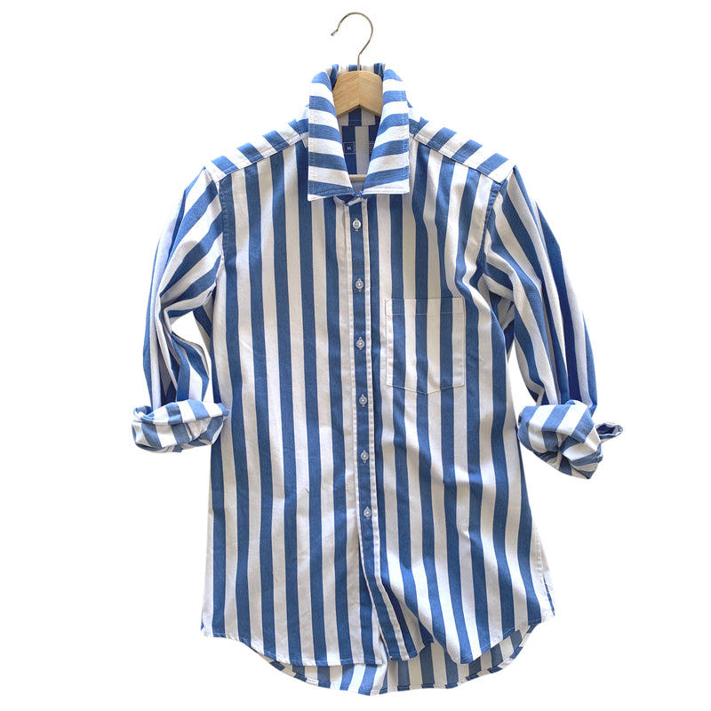 Franklin Awning Stripe Overshirt - Denim