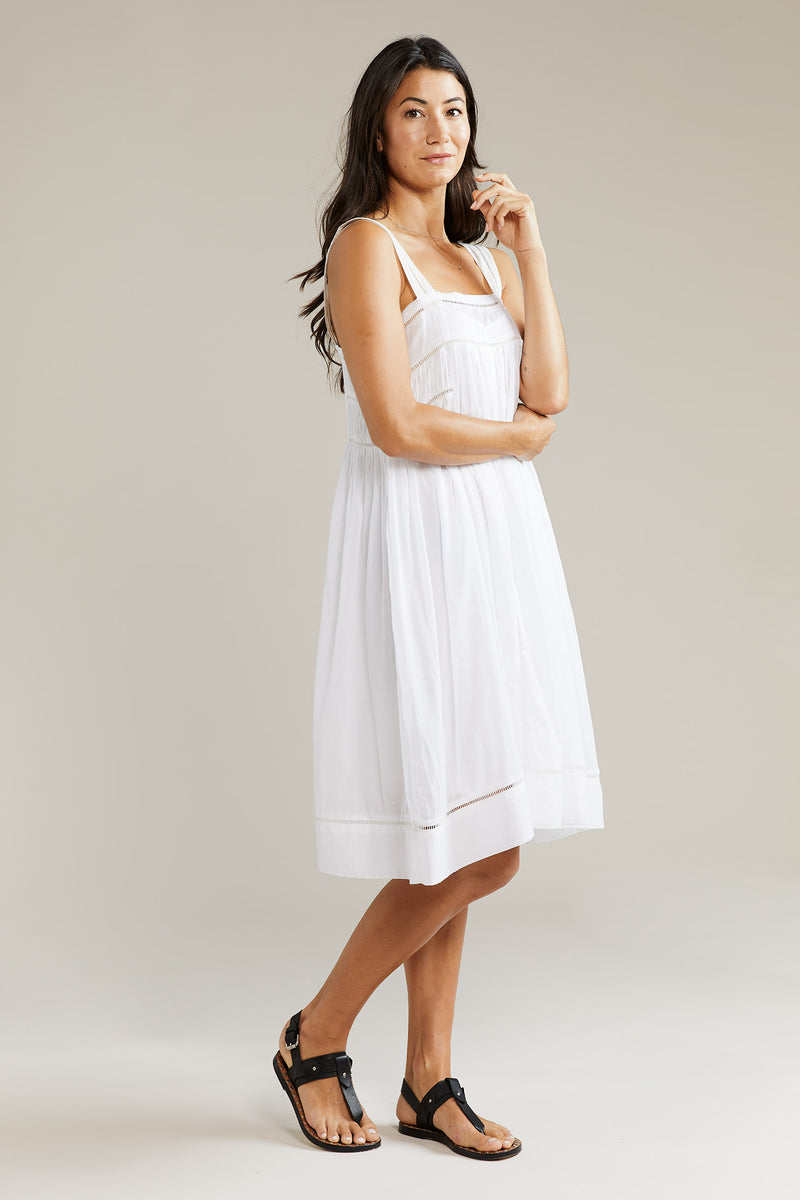 Into the Frey Pinafore Dress - White