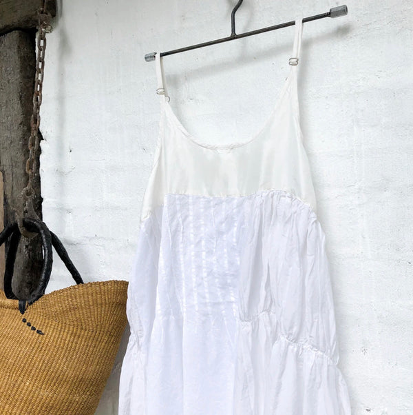 Willow Cotton Silk Slip - White