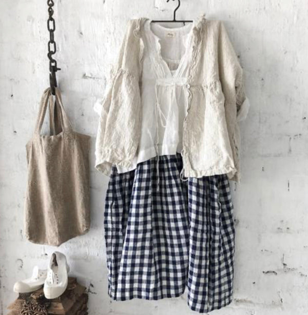 High Tea Slip Dress - Navy & White Gingham