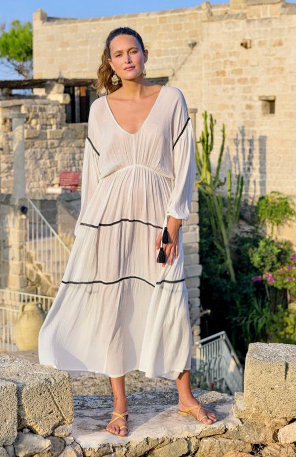 Ophelia Drawstring Waist Dress in Barcelona