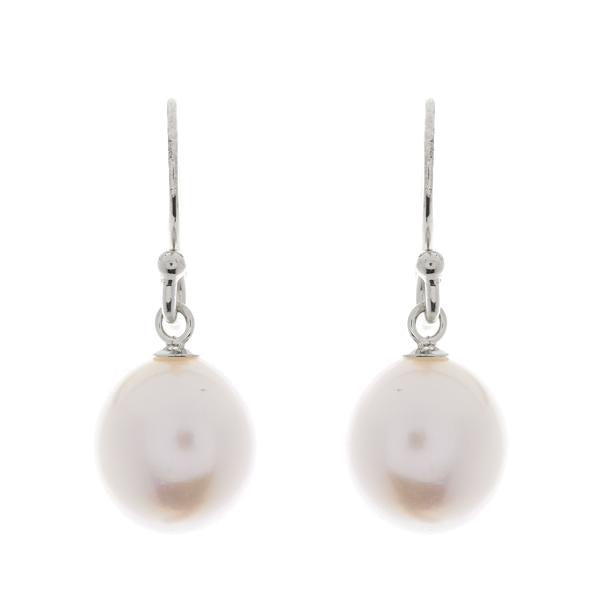 Freshwater Baroque Pearl Earring - Rhodium Hook