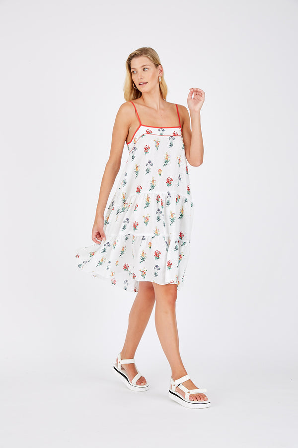 Madeline Dress - White Floral