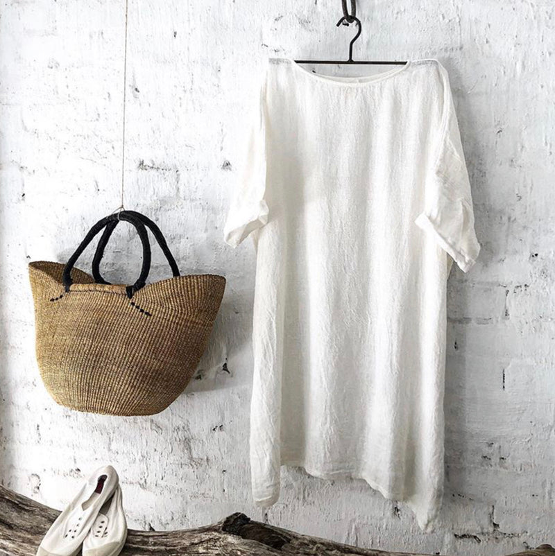 Avalon Linen Dress - White
