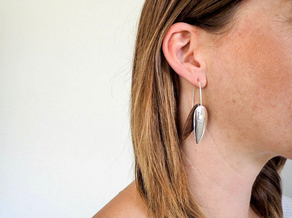 Leaf Earrings - Brown Mallee