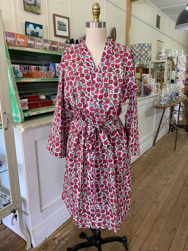 Dressing Gown - Red Floral