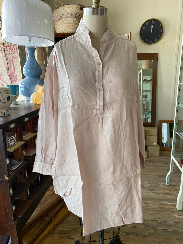 Riviera Linen Shirt - Rose