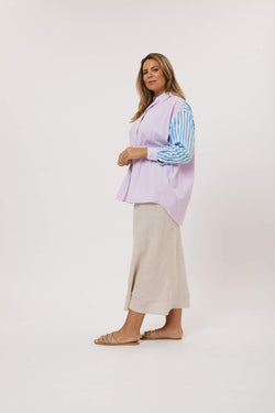 Mix it Up Shirt - Violet Stripe Curve