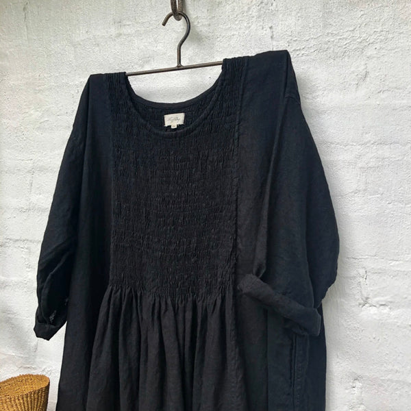 Annabelle Linen Dress - Black