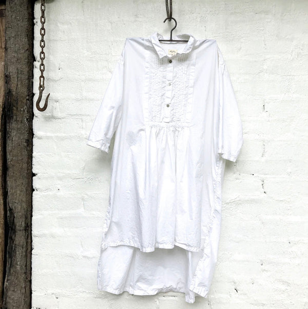 Bailey Paper Cotton Shirt - White