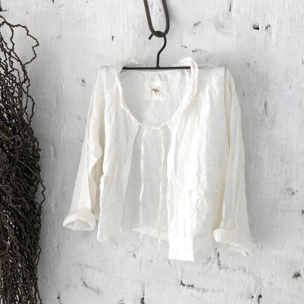 Billie Linen Jacket - White