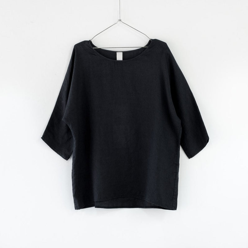 Classic Linen Top - French Navy