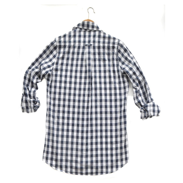 Franklin Gingham Shirt - Navy/White