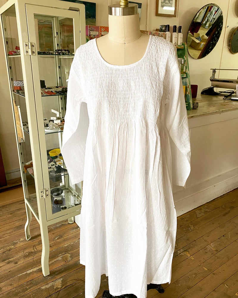 Cotton Voile Nightie with Smocking