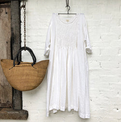 Annabelle Linen Dress - White