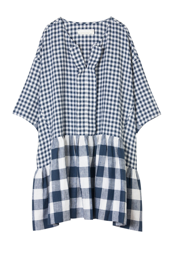 Margatta Dress - Mixed Gingham